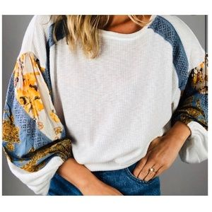 NWT 🤍 Free People, Balloon Sleeve Thermal.